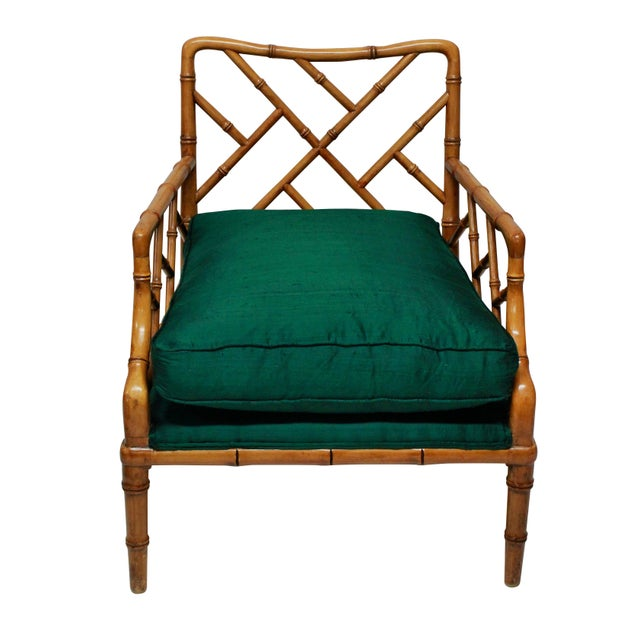1950s A Pair of Faux Bamboo Cockpen Armchairs For Sale - Image 5 of 6
