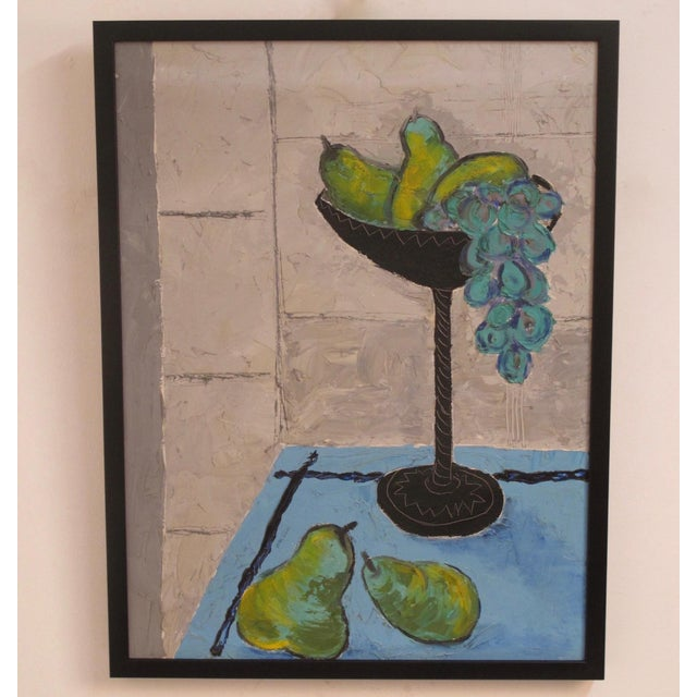 Grapes and Pears Still Life Painting For Sale - Image 4 of 7