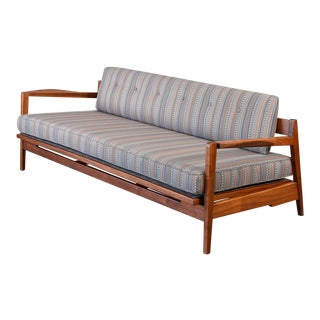 Rare Walnut Daybed by Jens Risom For Sale