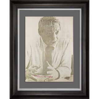 Louis I. Kahn Lt. Ed. Portrait Lithograph Hand Sigedn W/Archival Frame For Sale