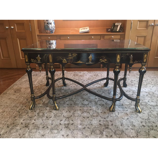 English Chinoiserie Center Hall Table For Sale - Image 10 of 10