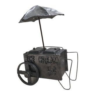 Pewter Handmade Ice Cream Cart