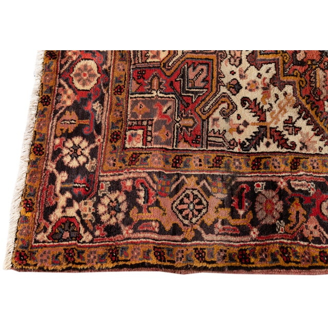"""1960s Vintage Persian Rug, 6'5"""" X 8'9"""" For Sale - Image 5 of 9"""