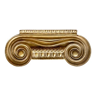 Vintage Gilt Corinthian Neoclassic Small Wall Shelf /Decoration For Sale