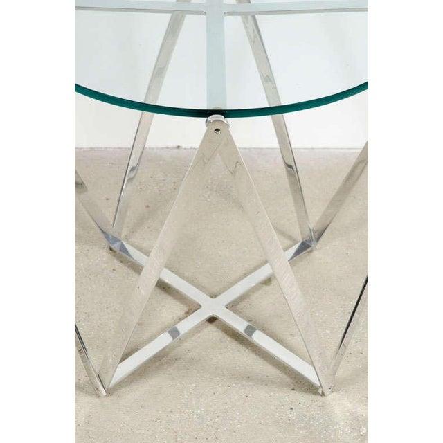 John Vesey Aluminum Spool Lamp Table For Sale In New York - Image 6 of 8