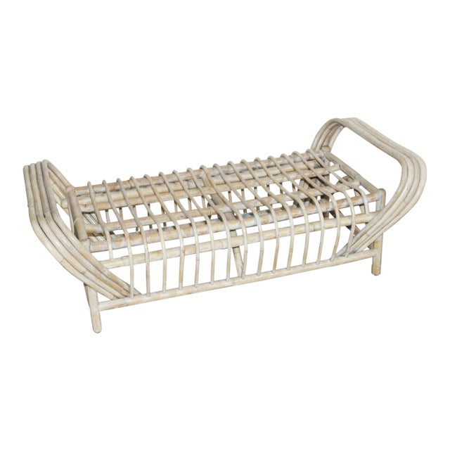 Vintage Mid Century Bamboo Bentwood Sculptural Bench For Sale