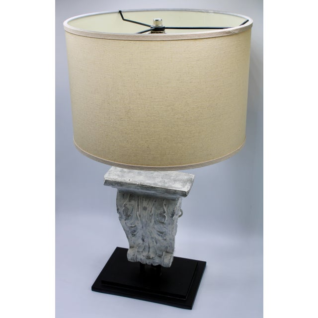Architectural Restoration Hardware Style Corbel Lamp For Sale In Tulsa - Image 6 of 13