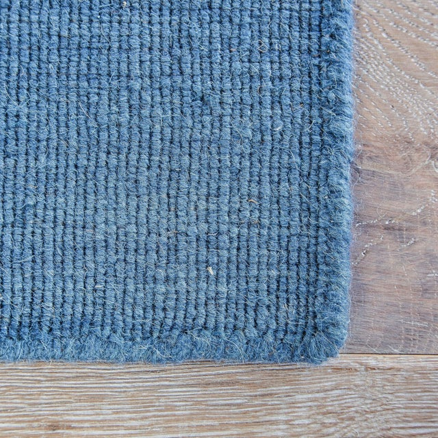 Contemporary Jaipur Living Cape Cod Handmade Striped Blue/ Cream Runner Rug - 2′6″ × 8′ For Sale - Image 3 of 6