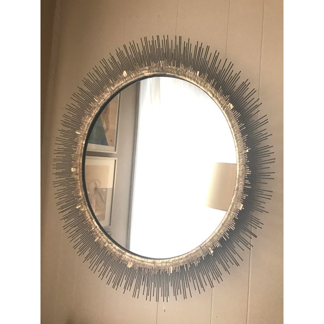Crate & Barrel Clarendon Round Wall Mirror - Image 3 of 4