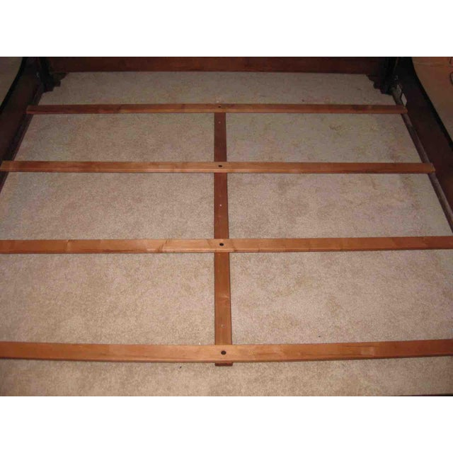 Wood Ethan Allen King Sleigh Bed For Sale - Image 7 of 11