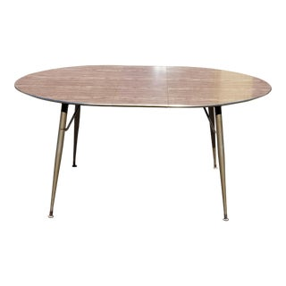 Vintage Mid-Century Modern Formica and Chrome Dinette Table For Sale