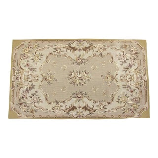 "Aubusson Needlepoint Rug, 2'9"" X 4'9"" For Sale"