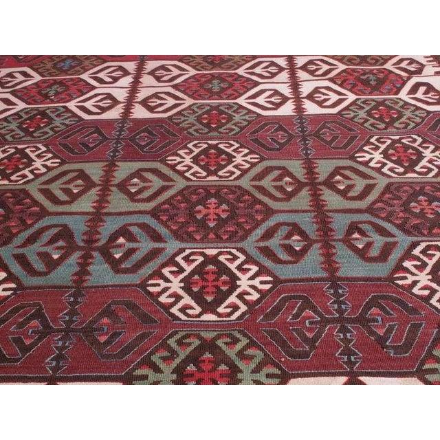 Impressive Antique Konya Kilim For Sale - Image 4 of 8