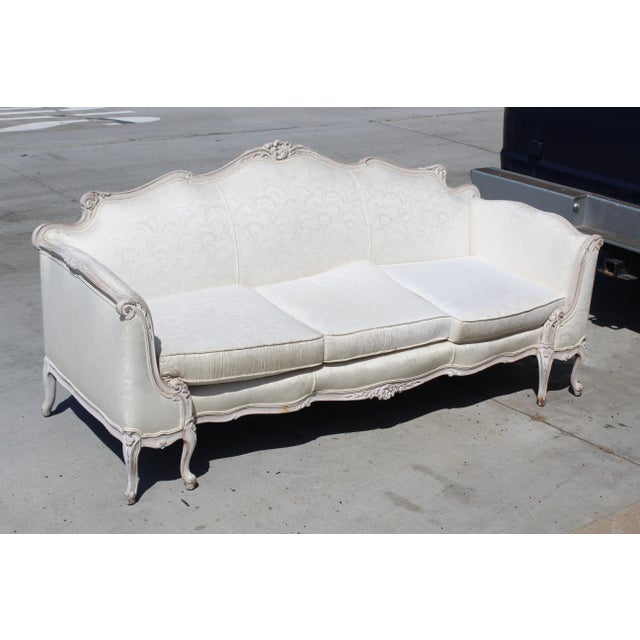 1960s Louis XV Style Settee Early 20c. For Sale - Image 5 of 5