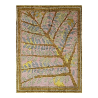Contemporary Moroccan Style Rug with Tree and Leaves