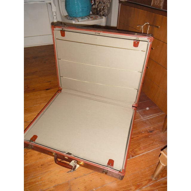 Vintage Samsonite Leather Suitcase - Image 4 of 8
