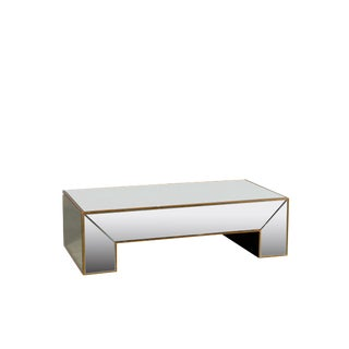 Statements by J Mirrored Coffee Table With Gold Detail