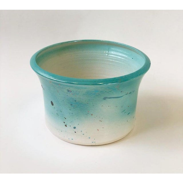 1980s Studio ceramic glazed planter or bowl by Gary McCloy for Steve Chase. This planter came out of Steve Chase home. The...