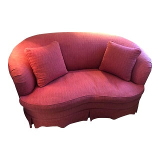 Modern Traditional Style Crescent Shaped Love Seat For Sale