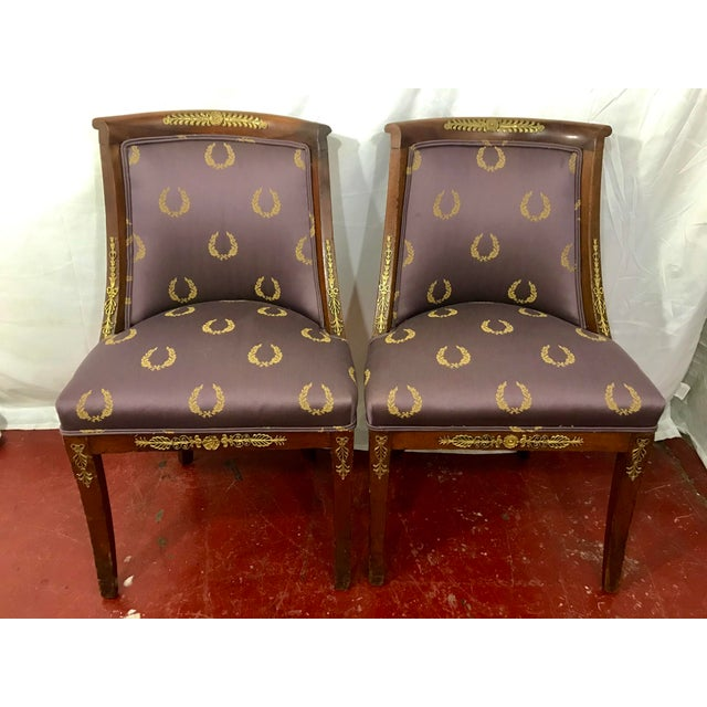 French Empire Side Chairs, a Pair For Sale - Image 12 of 12