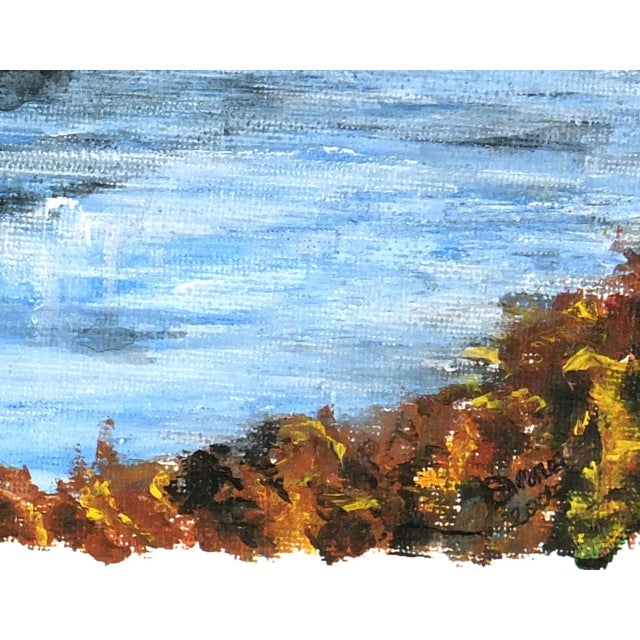 Mountaintop Lake Oil Painting - Image 3 of 4