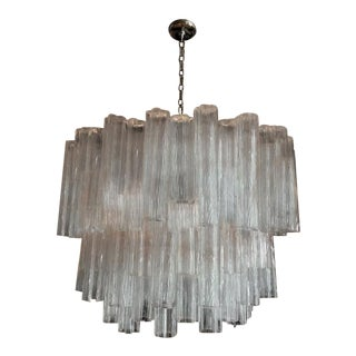 Vintage Murano Glass Tronchi Chandelier For Sale