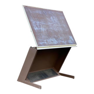 Industrial Salvage Drafting Table For Sale