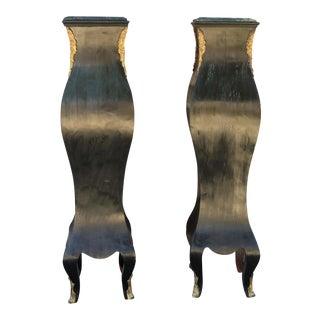 Antique Marble Top Pedestals - a Pair For Sale