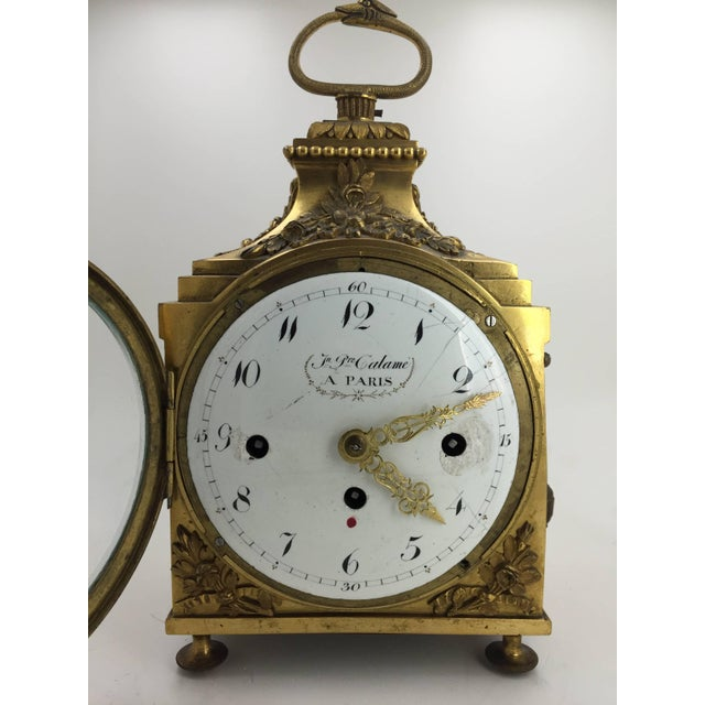French Provincial Late 18th Century Louis XVI Pendule d'Officier Ormolu Carriage Clock For Sale - Image 3 of 9