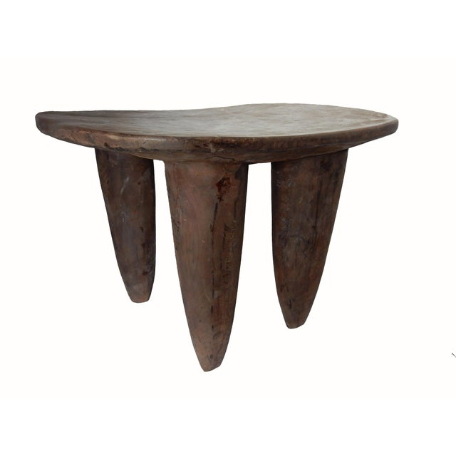 Senufo African Ivory Coast Stool or Table - Image 3 of 7