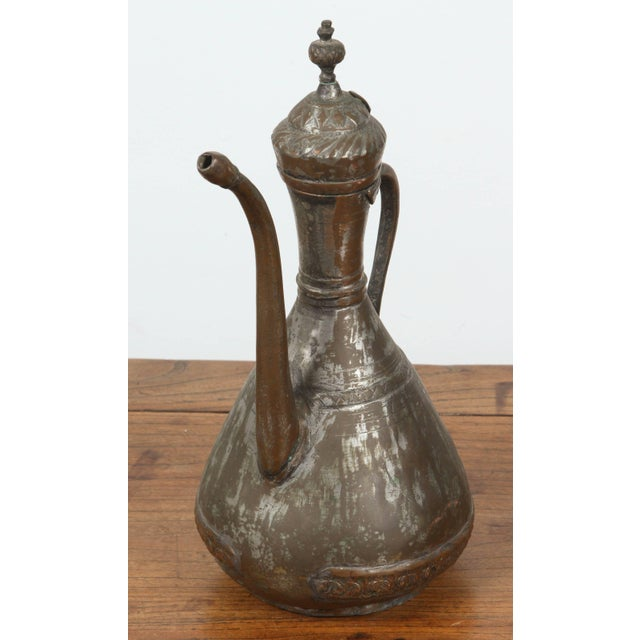 Middle Eastern Persian Tinned Copper Ewer For Sale In Los Angeles - Image 6 of 6