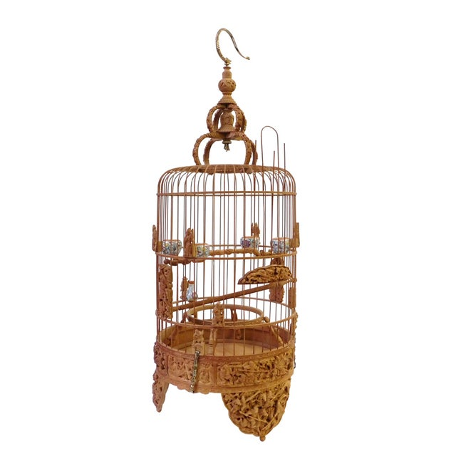 Bamboo Warfield Carving Birdcage - Image 1 of 10