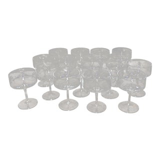 Lenox Sherbet or Champagne Crystal Glasses - Set of 16