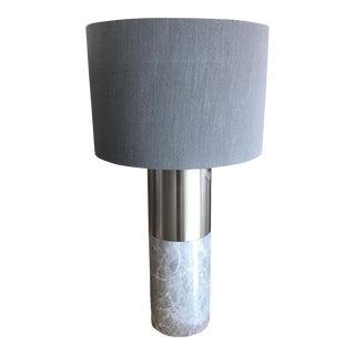 Marble & Nickel Table Lamp
