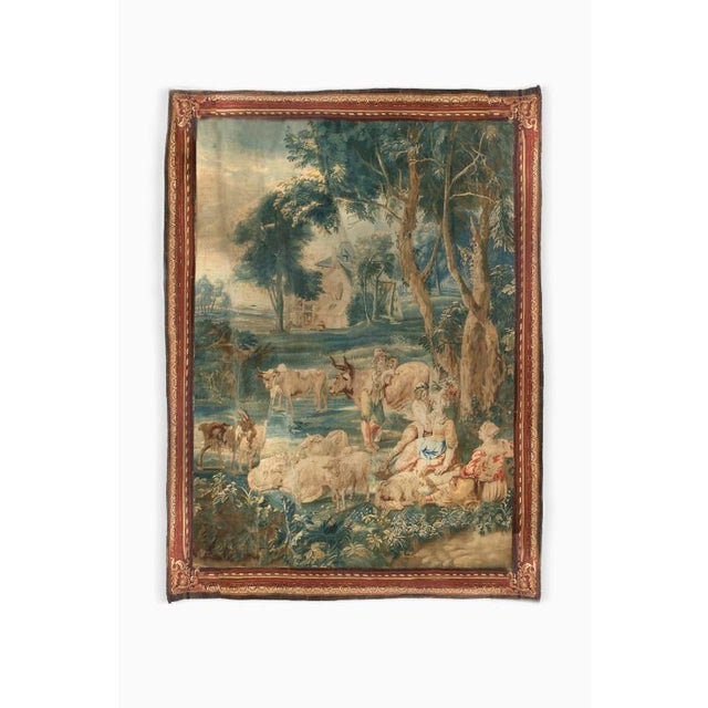 Blue 17th Century Brussels Tapestry Signed P. Van Den Hecke For Sale - Image 8 of 8