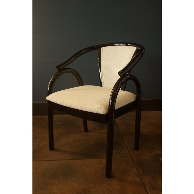Chinoiserie Black Lacquer Armchair - Image 2 of 6