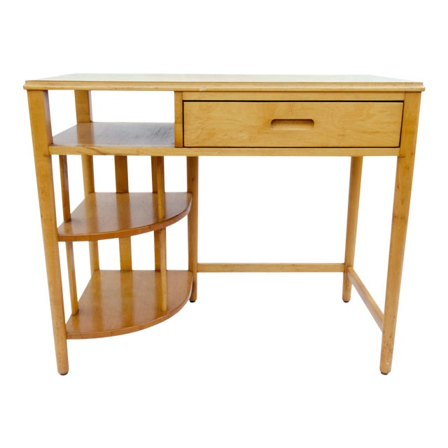 Mid-Century Hill-Rom Maple Desk For Sale