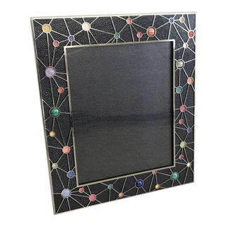 Shagreen With Multi-Color Stones Photo Frames For Sale