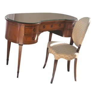 1940s French Ralph Widdicomb for John Widdicomb Desk & Chair - 2 Pieces For Sale