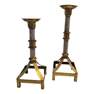 Hollywood Regency Candle Holders - a Pair For Sale