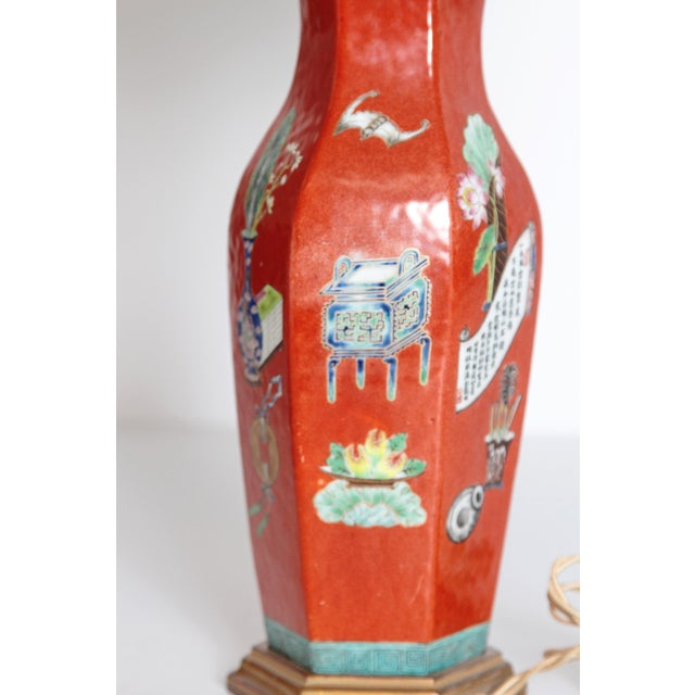 Pair of Early 19th Century Porcelain Chinese Vases as Lamps For Sale - Image 4 of 13