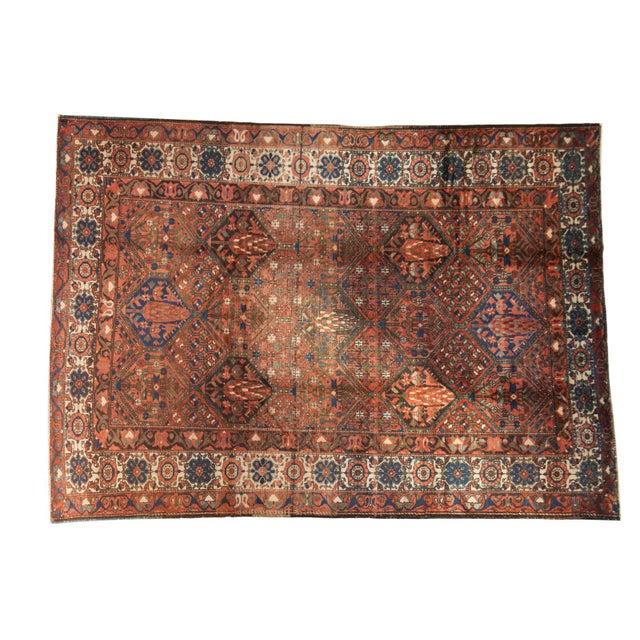 """Vintage Baktiari Carpet - 7'1"""" X 9'11"""" For Sale - Image 12 of 12"""
