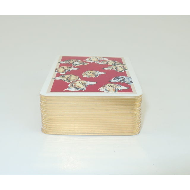 Late 20th Century Hermès Mini Playing Cards With Hound Dog Motif For Sale - Image 5 of 9