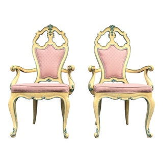 Victorian Style Era Gothic Chairs- a Pair For Sale