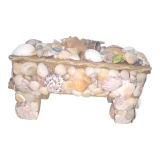 Vintage Nautical Shell Box For Sale