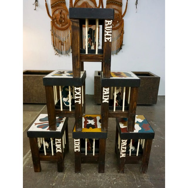 """These unique stools were created by the artist for """"Art Projects"""",a special exhibition for Art Basel Miami Beach,2006...."""