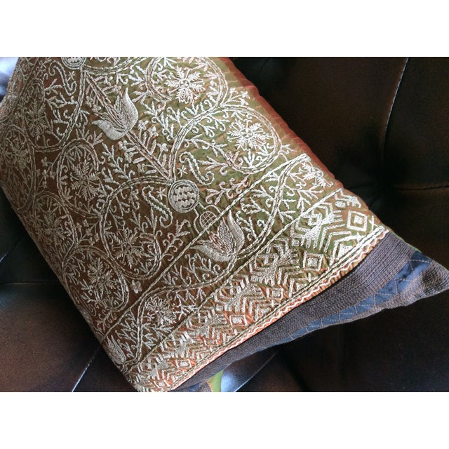 Luxury Silk Decorative Pillows : Luxury Silk Embroidered Decorative Pillow Chairish