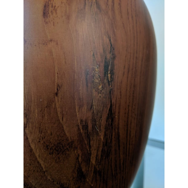 Oversize Turned Walnut Vessels, a Pair For Sale - Image 11 of 12