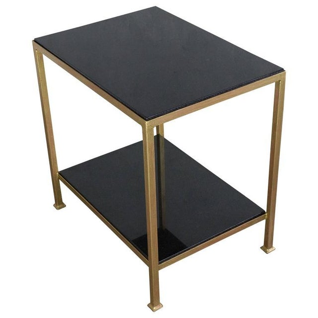 Marcelo Iron End Table With Polished Granite Surface For Sale - Image 11 of 11