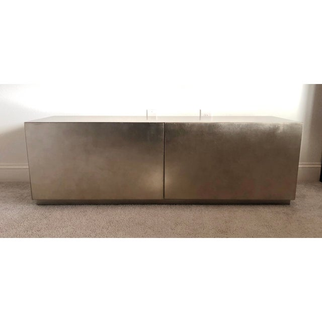 """Gold Leaf Modern Caracole """"The Low Down"""" Entertainment Unit For Sale - Image 7 of 8"""